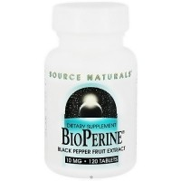 Source Naturals Bioperine black pepper fruit extract 10 mg tablets - 120 ea