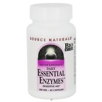 Source Naturals Daily Essential Enzymes 500 mg Capsules - 60 ea