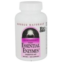 Essential enzymes 500 mg digestive aid enzyme supplement capsules, 120 ea