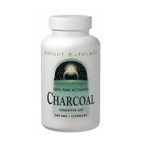 Source Naturals Charcoal 100 percent Pure Activated 260mg Capsules - 100 ea
