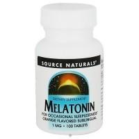Source Naturals Melatonin 1 mg, Orange Sublingual Tablets - 100 ea