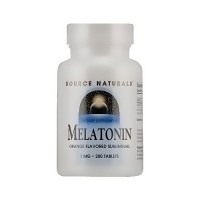 Source Naturals Melatonin sublingual 1 mg tablets, orange lozenge - 200 ea