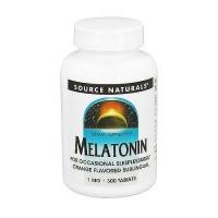 Source Naturals Melatonin sublingual 1 mg tablets - 300 ea