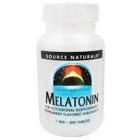 Source Naturals Melatonin sublingual 1 mg tablets, peppermint lozenge - 200 ea