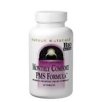 Source Naturals monthly comfort tablets, PMS formula - 90 ea