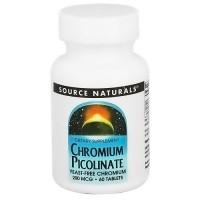 Source Naturals Chromium Picolinate 200 mcg yeast free tablets - 60 ea
