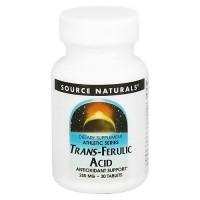 Source Naturals Trans-Ferulic acid 250 mg antioxidant support tablets - 30 ea