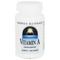 Source Naturals Vitamin A palmitate 10000 iu tablets - 250 ea