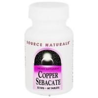 Source Naturals Copper sebacate 22 mg tablets - 60 ea