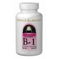 Source Naturals Vitamin B-1 high potency 500 mg tablets - 100 ea