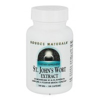 St Johns wort extract 300 mg capsules supports positive mental outlook - 60 ea