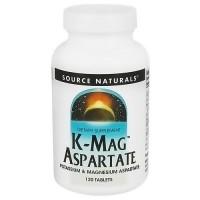 Source Naturals K Mag aspartate tablets - 120 ea