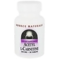 Source Naturals Acetyl L-carnitine 250 mg tablets - 30 ea