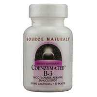 Source Naturals Coenzymated B-3 25 mg sublingual tablets - 30 ea