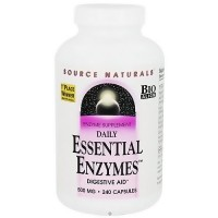 Daily essential enzymes 500 mg capsules by Source Naturals - 240 ea