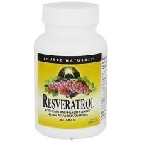 Source Naturals Resveratrol 40 mg Antioxidant Protection - 60 Tablets
