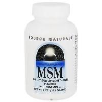 Source Naturals MSM powder with vitamin C - 4 oz