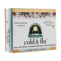Source Naturals Wellness Cold And Flu With Homeopathic Echinacea Tablets - 48 Ea