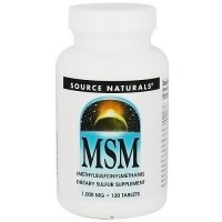 Source Naturals MSM methylsulfonylmethane C 1000 mg tablets - 120 ea
