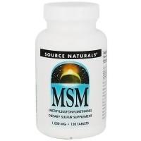 Source Naturals MSM methylsulfonylmethane C 1000 mg tablets - 120 ea
