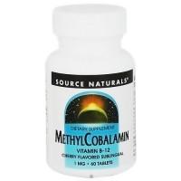 Source Naturals Methylcobalamin, Cherry Flavor - 60 Sublingual Tablets
