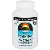 Essential enzymes 500 mg digestive aid vegetarian capsules - 120 ea