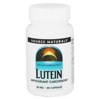 Source Naturals Lutein Antioxidant Carotenoid 20 mg Capsules - 60 ea