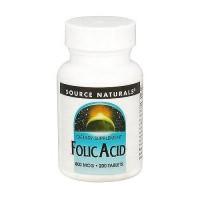 Source Naturals Folic acid 800 mcg tablets - 200 ea
