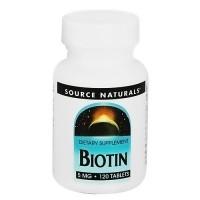 Source Naturals Biotin 5mg tablets - 120 ea