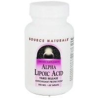 Alpha lipoic acid 300 mg time release tablets for antioxidant protection, 60 ea