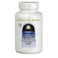 Source Naturals Mega-One multiple, no iron tablets - 30 ea