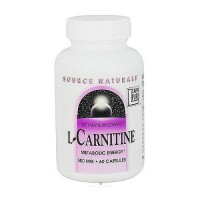 L-carnitine 500 mg dietary supplement capsules for energy production - 60 ea