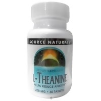 Source Naturals L-Theanine 200 mg tablets - 30 ea
