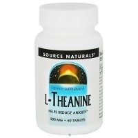 L-Theanine 200 mg dietary supplement tablets to reduce anxiety - 60 ea