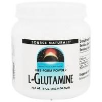 Source Naturals L-Glutamine amino acid, free form supplement powder - 16 oz