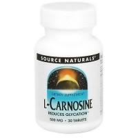 Source Naturals L-Carnosine 500 mg tablets - 30 ea