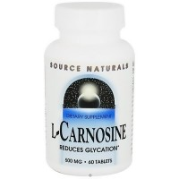 Source Naturals L-Carnosine 500mg tablets - 60 ea