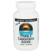 Source Naturals phase 2 Carbohydrate blocker 500 mg tablets - 120 ea