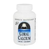 Source Naturals Coral calcium 600 mg tablets - 120 ea