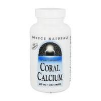 Source Naturals Coral calcium 600 mg tablets - 240 ea