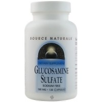 Source Natural Glucosamine sulfate sodium free 500 mg capsules - 120 ea