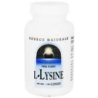 Source Naturals L-Lysine 500 mg capsules - 100 ea
