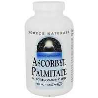 Source Naturals Ascrobyl palmitate 500 mg capsules - 180 ea