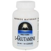 Source Naturals L-Glutamine 500mg Free Form - 100 Capsule