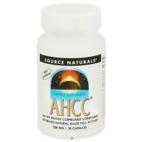 Source Naturals AHCC with bioperine 500 mg capsules - 30 ea