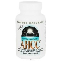 Source Naturals AHCC with bioperine 500 mg capsules - 60 ea