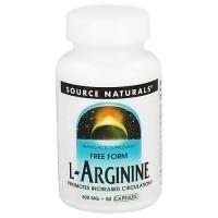 Source Naturals L-Arginine 500 mg capsules - 50 ea