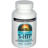 Source Naturals 5-HTP L-5-Hydroxytryptophan 100 mg - 120 Capsules