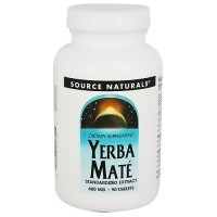Source Naturals Yerba Mate 600 mg Standardized Extract Tablets - 90 ea
