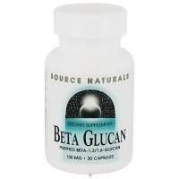 Source Naturals Beta-Glucan 1,3/1,6 100 mg capsules - 30 ea